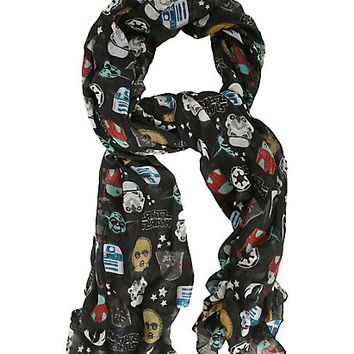 Loungefly Star Wars Icons Print Oblong Scarf