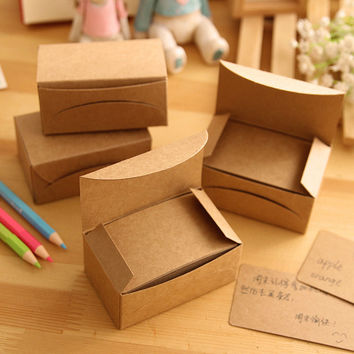 100 Pcs/Set Writing Blank Kraft Paper Memo Pad Notebook Business Paper Cards Stationery Stickers Memo Pads Word Cards