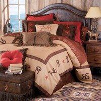 Stars And Brands Western Bedding Set
