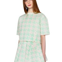 Mint Houndstooth Matching Separates