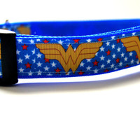 Wonder Woman Dog Collar Adjustable Sizes (M, L, XL)