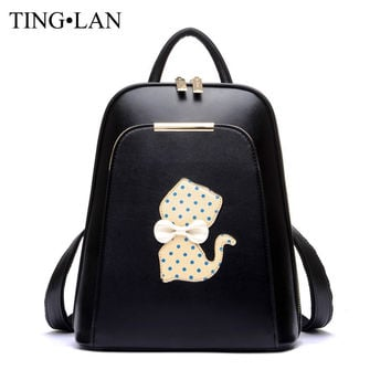Famous Brand Women Backpack Luxury Designer Lady's Small Vintage Backpacks For Teenage Girls High Quality PU Leather Travel Bags