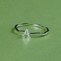 Initial Name Ring - Alphabet Ring - Letter Ring - Free Shipping - Gift