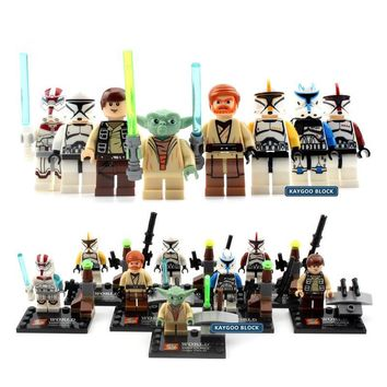 Star Wars Force Episode 1 2 3 4 5  Series Space  Action Figures Last Jedi Clone Storm Trooper Yoda Darth Vader C3PO R2 Han Solo Building Blocks Brick AT_72_6