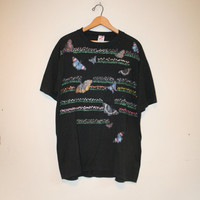 SPARKLY BUTTERFLY T-SHIRT// 90s handmade tee // vintage!