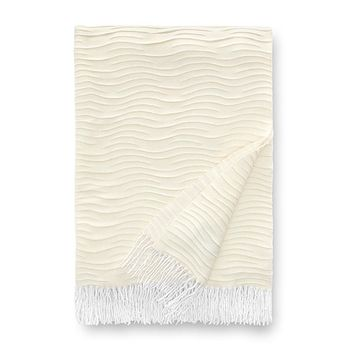 Emara Winter White Throw by Sferra