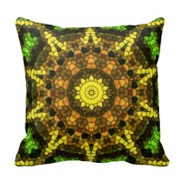Colorful mosaic pillows