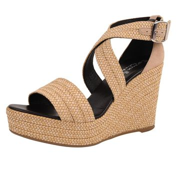 Carmen Saiz Braided Raffia Platform Wedge