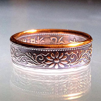 Beautiful Japanese 1 Sen Coin Ring
