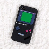 Iphone 4S 4 Nintendo Game Boy Silicone Case BLACK Color HIGH QUALITY GUARANTEE and Super Realistic Look