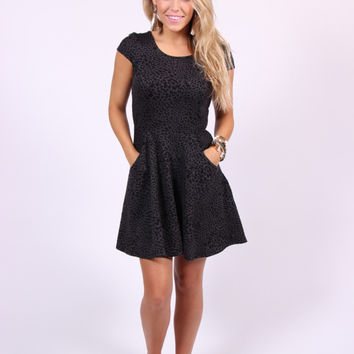 Buddy Love-Carol Leopard Dress-Black
