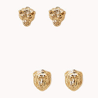Lion & Jaguar Stud Set