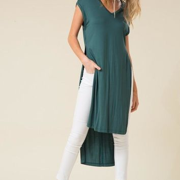 V-neck Side Slit Top