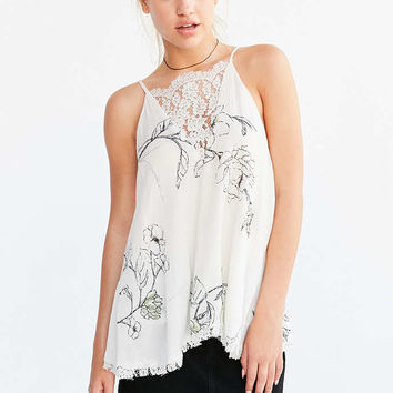Kimchi Blue Celia Lace-Neck Tunic Cami - Urban Outfitters