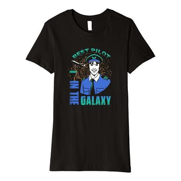 Best Pilot in the Galaxy Air Force Airplane Gift T Shirt