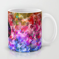 HELLO BEAUTIFUL Colorful Art Typography Inspirational Abstract Watercolor Painting Ombre Rainbow Mug by EbiEmporium