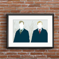 True Detective Poster - Rust Cohle Marty Hart Poster - True Detective Print - Matthew McConaughey Woody Harrelson - Geek Gift - TV Poster