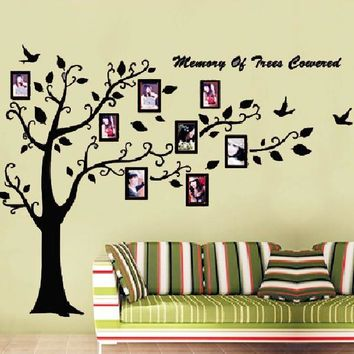 2016 Large Size DIY Photo Tree frame PVC Wall Decals Adhesive Wall Stickers Mural Art Home Decor Living Room Stickers