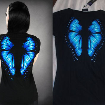 Butterfly Pattern Printed Tshirt--MUST SEE!