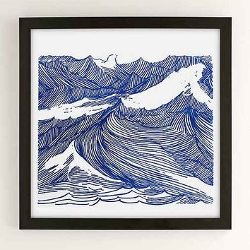 Kym Fulmer Crashing Waves Art Print