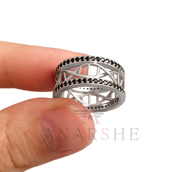 rings braided engagement geek wedding ring dna pin