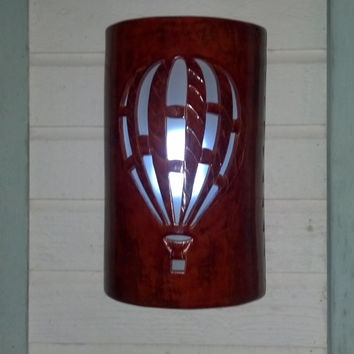 Hot Air Balloon Cutout Exterior Wall Sconce