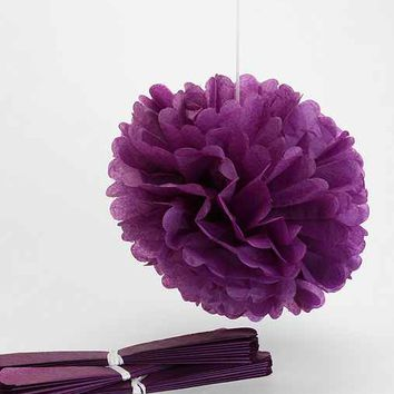 Dress My Cupcake Large Tissue Paper Pompom Set - Purple One