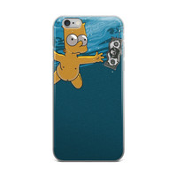 Baby Bart Simpson Nirvana Nevermind Krusty The Crab Money The Simpsons Blue iPhone 4 4s 5 5s 5C 6 6s 6 Plus 6s Plus 7 & 7 Plus Case