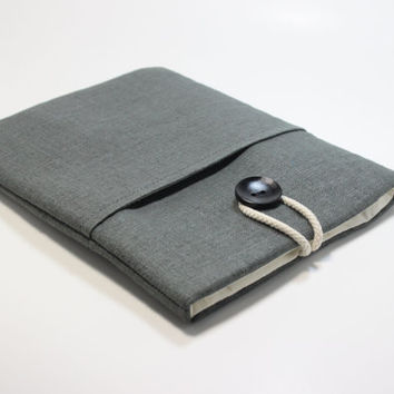 Microsoft Surface Pro 3 Case Microsoft Surface 2 sleeve Microsoft Surface Pro Cover Padded Handmade Surface Pro Cover- Charcoal Grey UniSex