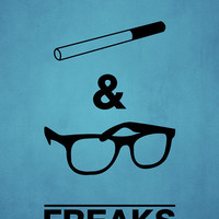 Freaks and Geeks Minimal Art Print - Inspired by the TV Show - 11x17