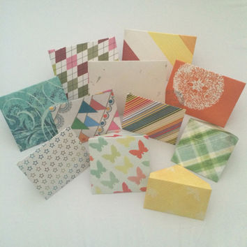 Patterned envelope and card variety pack! Assorted mix of shapes and sizes envelopes and cards (11)