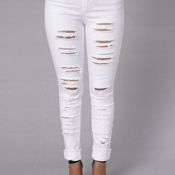 Hooked Jeans - White