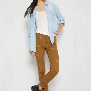 Return the Flavor Jeans in Saffron | Mod Retro Vintage Pants | ModCloth.com