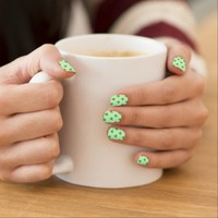 Green clover polka dot Saint Patrick's day