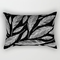 Float Like A Feather - Black Rectangular Pillow by Heather Dutton