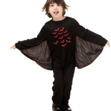 DCCKH6B halloween cosplay costumes boys halloween bat costume performance wear batman clothes batman party supplies boy animal costumes