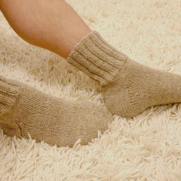 MENS SOCKS - slipper socks - mens slipper socks - mens wool socks
