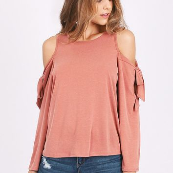 Waving Goodbye Cold Shoulder Top