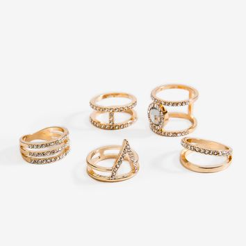 Caelin Caged 5pc Ring Set
