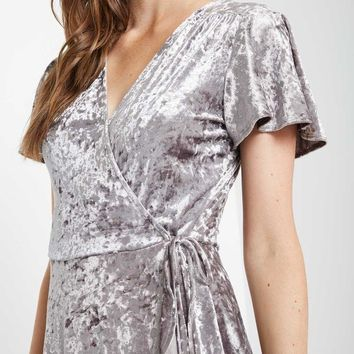 Muse Velvet Fit and Flare Dress