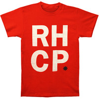 Red Hot Chili Peppers Men's  Stack T-shirt Red