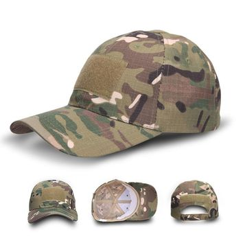 Trendy Winter Jacket Men's Baseball Cap Tactical SWAT Army Camo Snapback Hat  Outdoor Combat Camouflage Cap Male Hunter  Cap AT_92_12