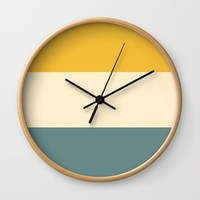 Sunshower Wall Clock by spaceandlines