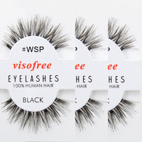 12 Pairs/Lot Viso False Eyelashes #WSP Human Hair Eye Lashes (Same factory & production line as Red Cherry)