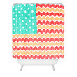 Nick Nelson Zig Zag Flag Shower Curtain
