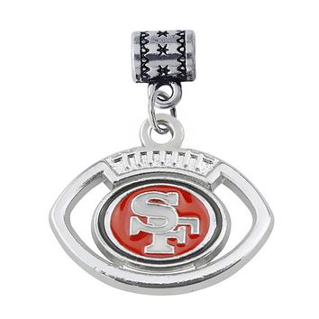 Fashion DIY football Sports Jewellery Accessories Enamel Metal San Francisco 49ers big hole loose beads pendant