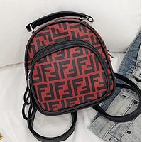 FENDI Newest Fashionable Woman Leather Handbag Tote Satchel Shoulder Bag Mini Backpack Red