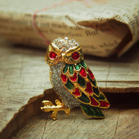 Forest Owl Brooch #5265