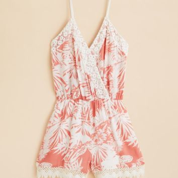 Kiddo Girls' Palm Tree Print Romper - Sizes S-XL | Bloomingdales's