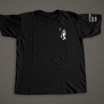Drake ovo 6 god praying hands shirt